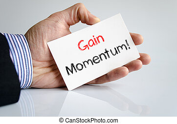 Gain momentum text concept isolated over white background
