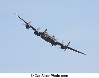 avro lancaster - lancaster turning for flypast