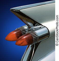 59 Cadillac tail fin,isolated - White 1959 cadillac tail fin...