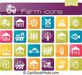 Farm icons part 2 set eps 10