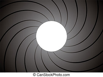 gun barrel inside - inside of a gun barrel with spiral...