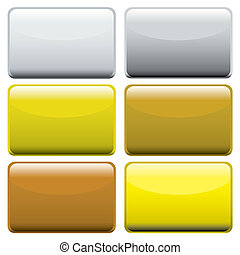 metallic oblong web buttons