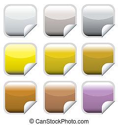square web button