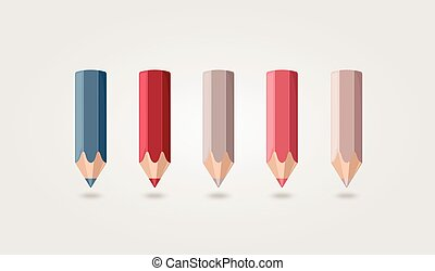 Colored pencils - The modern colored pencils vector eps 10
