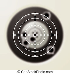 target bullet - Target with gun shot holes and hunters...