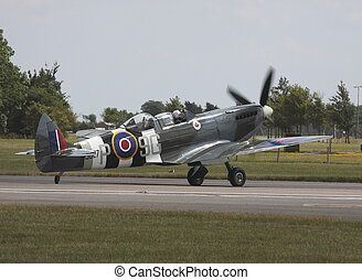 supermarine spitfire - prepering for take off
