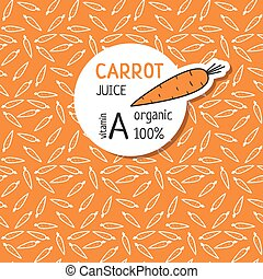 Templates for label of juice from the carrot