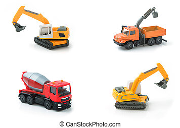 Mix toy construction transport collection set