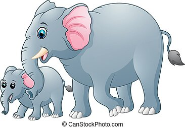 animal cartoon dance elephant happy illustration vector