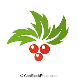 Christmas holly berry - Holly berry Vector illustration