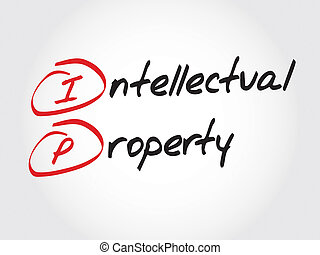 Intellectual Property - IP - Intellectual Property, acronym...