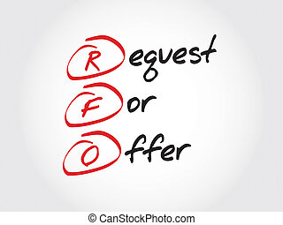 Request For Offer - RFO - Request For Offer, acronym...