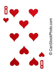 playing card isolated - object on white - playing card close...
