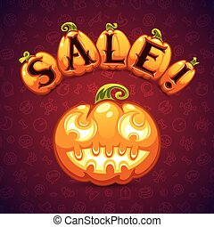 Halloween Pumpkin Sale Banner
