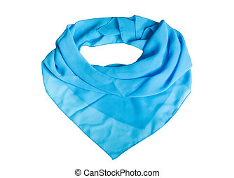 Shawl - Blue shawl on the white background