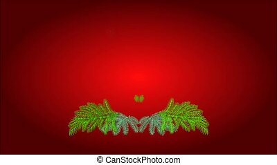 Happy Christmas Advent wreath - Animation of illustration...