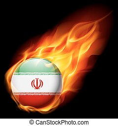 Round glossy icon of Iran - Flag of Iran as round glossy...