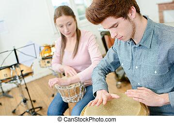 Percusión, clase,