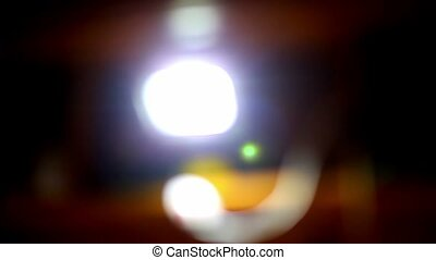 blurred background light flickering glare beautiful movement...
