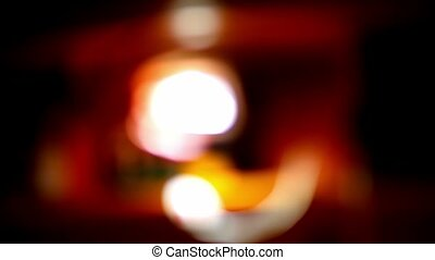 blurred light background flickering glare beautiful movement...