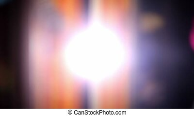 blurred background flickering glare movement light beautiful...