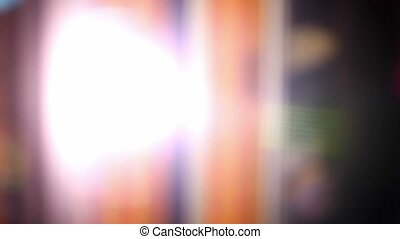 blurred background flickering glare movement beautiful light...