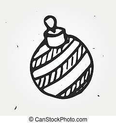 vector toy, christmas time - vector doodle toy, isolated...