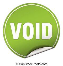 void round green sticker isolated on white