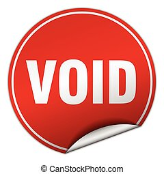 void round red sticker isolated on white
