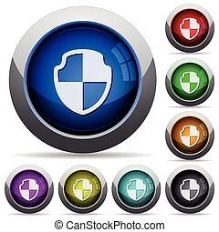Shield button set