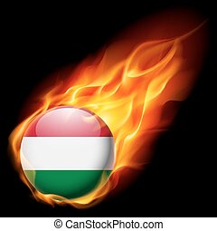 Round glossy icon of Hungary - Flag of Hungary as round...