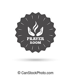 Prayer room sign icon Religion priest symbol - Vintage...