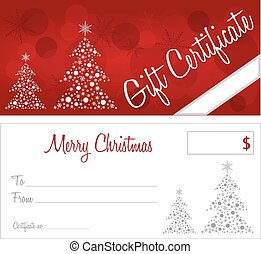 red christmas gift certificate version 10 text outlines