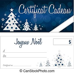 french gift certificate - french christmas gift certificate...