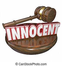 inocente, não, culpado, Juiz, Gavel, julgamento,...