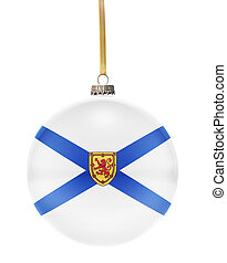 Bauble with the flag design of Nova Scotia.(series) - A...