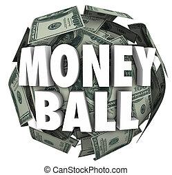 Money Ball 3d Words Sports Stats Winning Cash Gambling