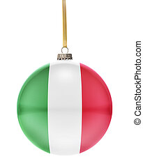 Bauble with the flag design of Italy.(series)