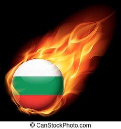 Round glossy icon of Bulgaria - Flag of Bulgaria as round...