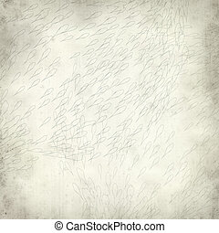 textured old paper background with shoal of koi carp...