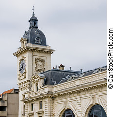 Bayonne train station. Aquitaine, France - Clock tower of...