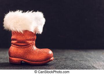 botas,  santa, rojo