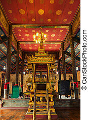 Pulpit Buddhist in Reign 4 of Thailand At WatChoeng Tha...