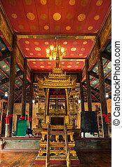 púlpito, budista,