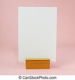 站立, 菜單, 空白, 卡片,  (1)