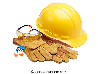 safety equipment - various type of protective workwears...