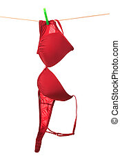bra hanging on clothes line - the color bra hanging on...
