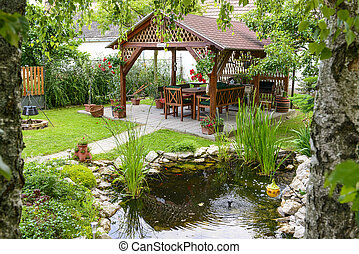 Relax Time In The Garden - Beautiful Garden With A Little...