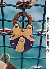 switzerland, zurich, love locks on a bridge