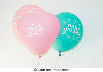 Birthday or party balloons - Set of colourful birthday or...